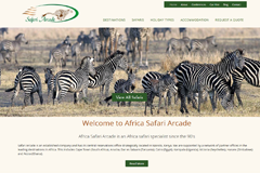 Web Design for Travel Companies - Africa Safari Arcade