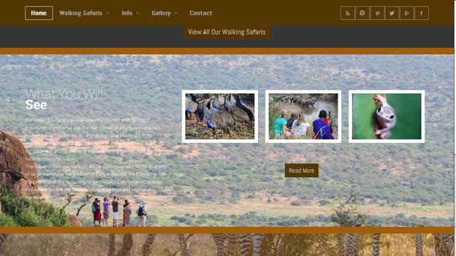 Travel Website Design Karisia Walking Safaris