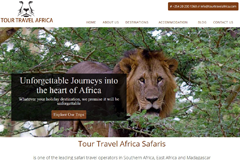 Web Design for Travel Companies - Tour Travel Africa