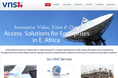 Website Design for Telecommunication Companies - VNS Africa